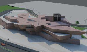 دانلود نقشه اتوکدی کامل موزه همراه با رندر 3dmax