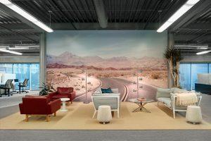 طراحی داخلی جدید شرکت معماری geremia برای دفتر بیمه اتومبیل