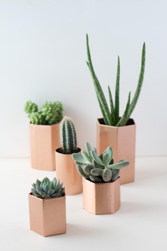 copper-geometric-planters