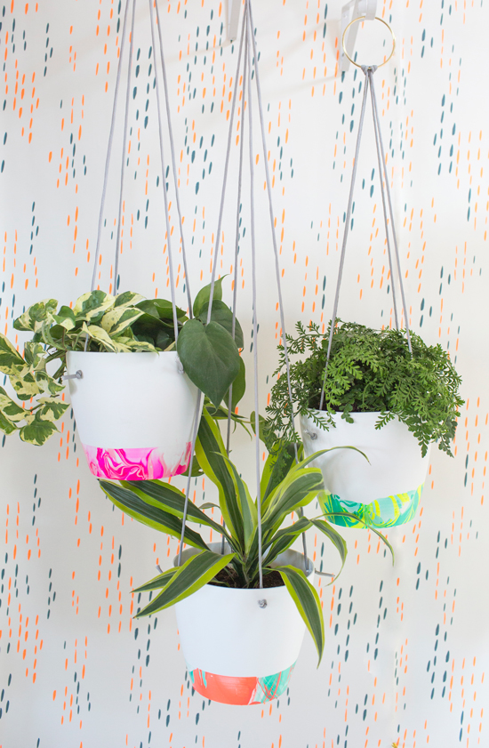 neon-marbled-plant-pots