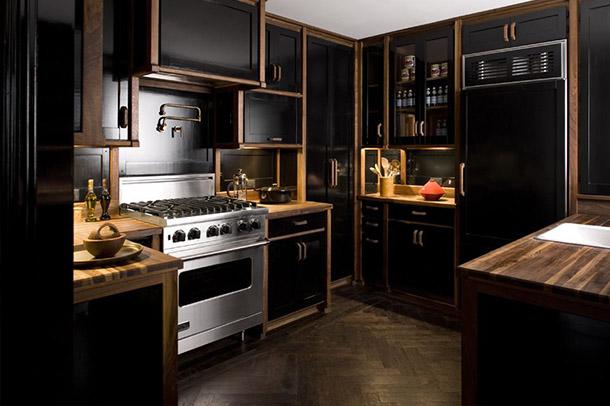 20 طرح آشپزخانه با رنگ مشکی که دیدگاه شما را برای استفاده از رنگ تیره عوض می کند