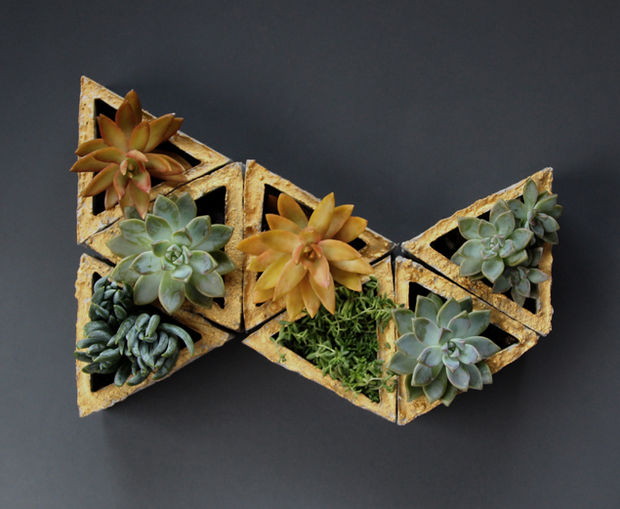 triangle-succulent-planters