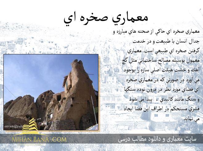 معرفی معماری صخره ایی (روستای کندوان)