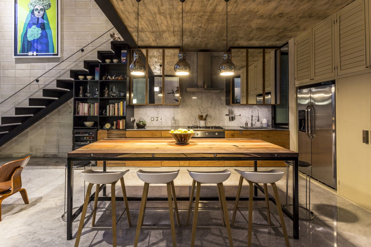 Raw-House-in-Yucatan-kitchen-and-dining