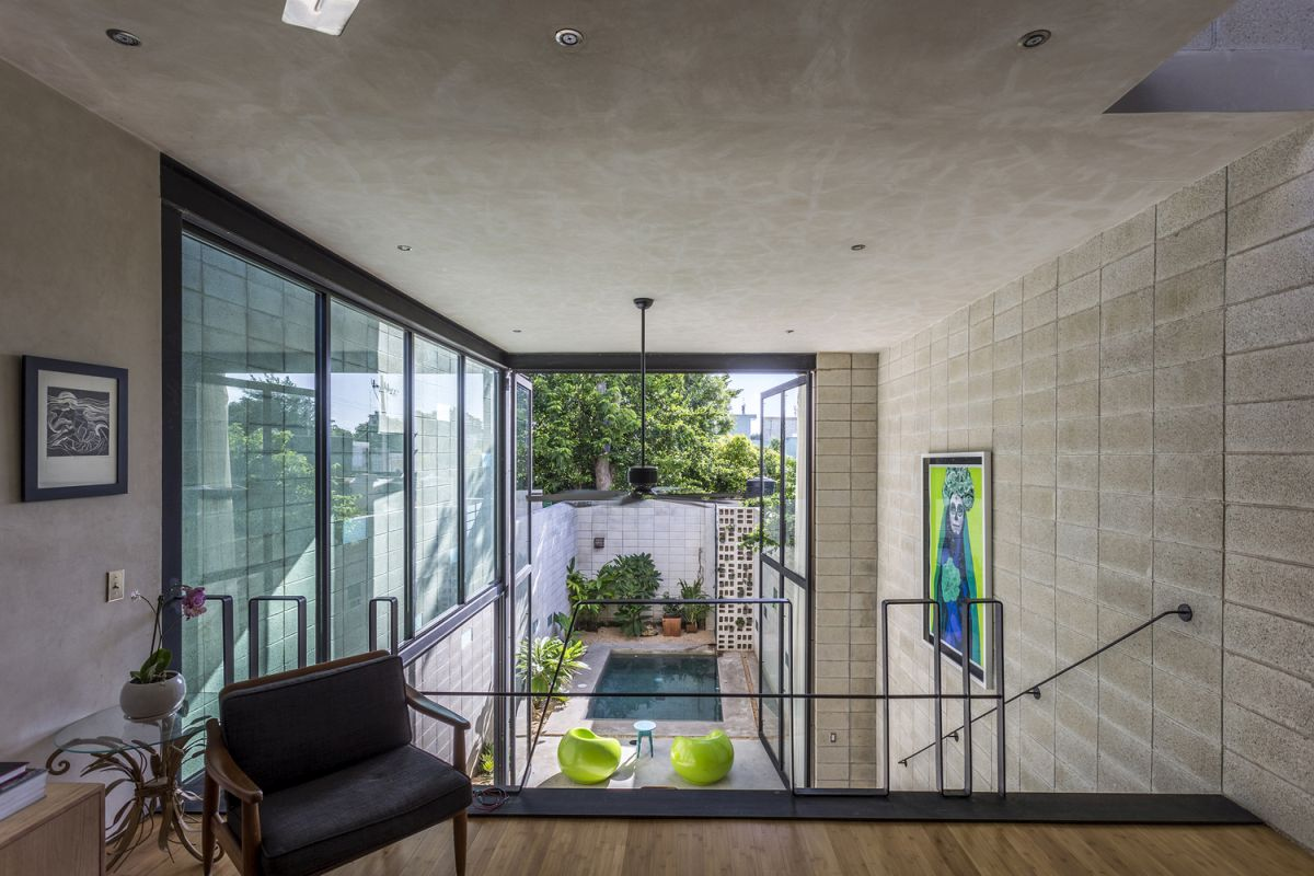 Raw-House-in-Yucatan-pool-viewed-from-top-floor