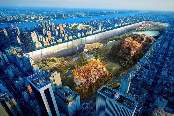 طرح پیشنهادی برای  ساخت 1000 فوت دیوار در اطراف پارک کاوش های باستان شناسی