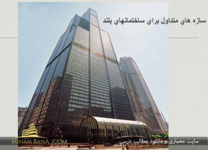 معرفی سازه های متداول برای ساختمان های بلند در قالب پاورپوینت