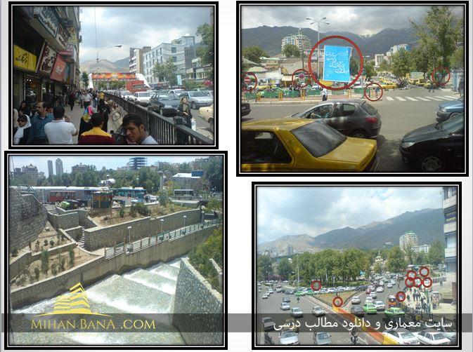 پاورپوینت تحلیل فضاهای شهری نمونه موردی میدان تجریش تهران