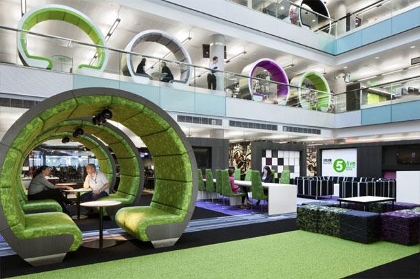 غرفه ملاقات ; اتاق های خلاقانه درساختمان BBC