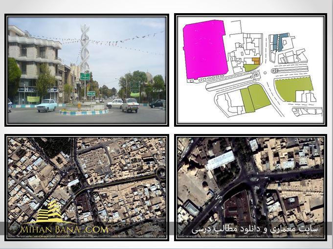 تحلیل چهار راه لاله شهرستان دامغان در قالب پاورپوینت