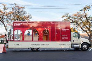 طرح خلاقانه یک ایرانی در نیویورک ; کامیونی برای مشاوره قاعدگی به بانوان