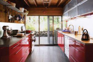 طراحی دکوراسیون آشپزخانه لوکس با طلا