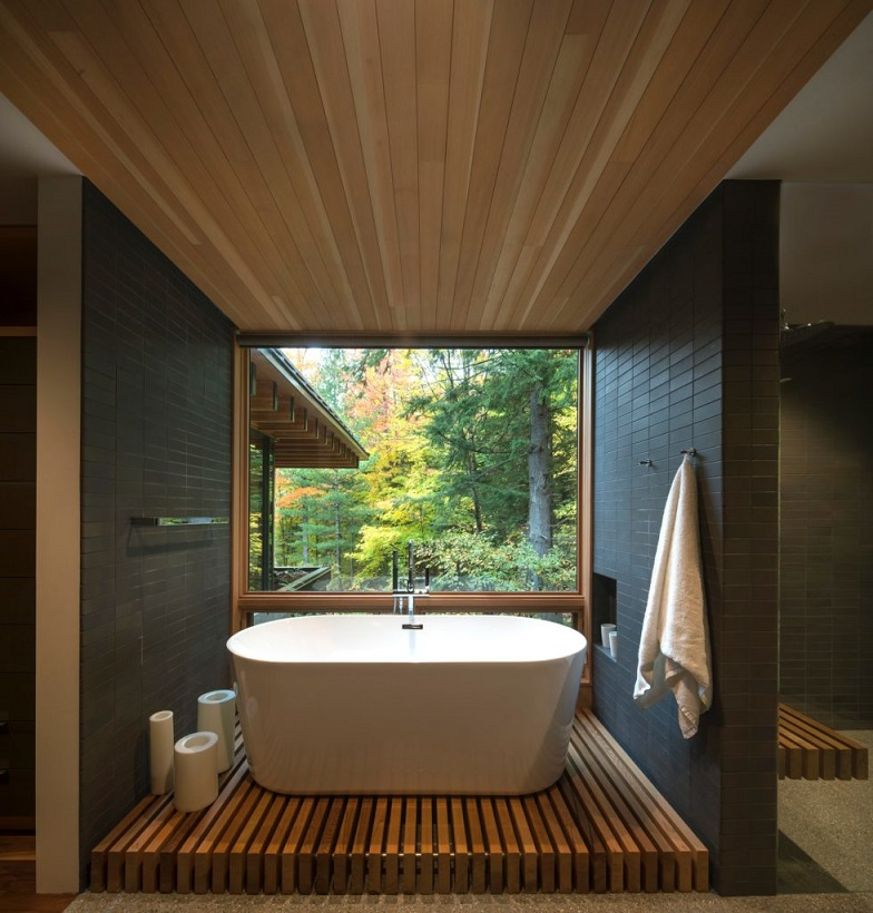 a freestanding bathtub