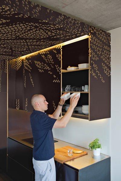 طلا در طراحی دکوراسیون آشپزخانه